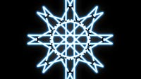 Bluest Light Triangle Star