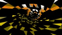 EDM Triangles Spiral Orange Yellow