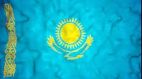 Kazakh Flag Video Loop
