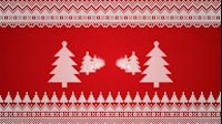 Knitted Christmas Tree Sides