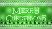 Knitted Merry Christmas 1 Green