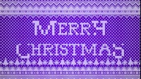 Knitted Merry Christmas 2 Purple